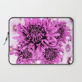 Pink Chrysanthemum Flowers Art Garden  Pattern Laptop Sleeve