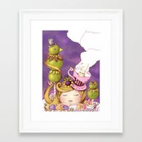 neverland Framed Art Prints featuring Neverland by Eunice Ng