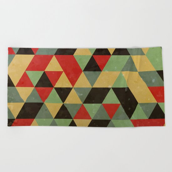 Retro Pattern Beach Towel