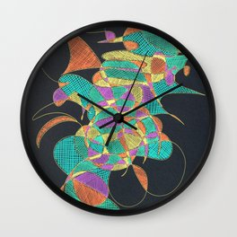 Forms 2 negative Wall Clock