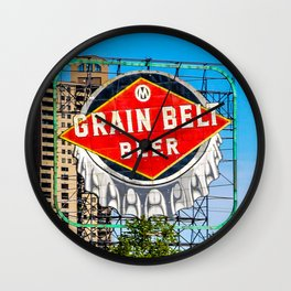 Grain Belt Beer Sign Wall Clock
