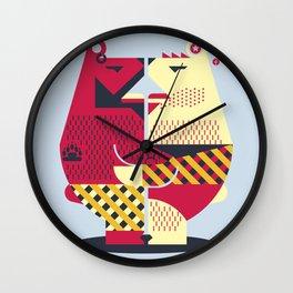 Two Bears Wall Clock
