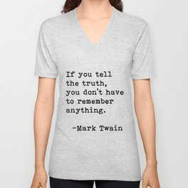 Mark Twain quote 03 Unisex V-Neck