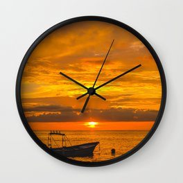 Puerto Vallarta sunset. Wall Clock