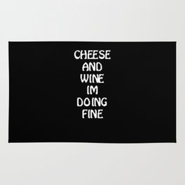 Cheese And Wine Rug