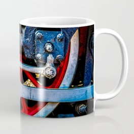 Old Steam Train Wheel Fittings And Valves. Railway Art. Coffee Mug