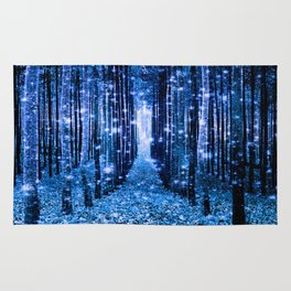 Magical Forest Bluest Blue Rug