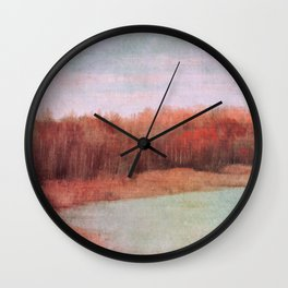 wild red Wall Clock