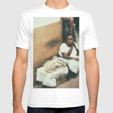 Mexican Street Vendor MEDIUM White Mens Fitted Tee