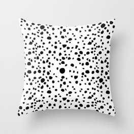 Postmodern Granite Terrazzo Large Scale in White + Black Throw Pillow