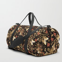 Golden butterfly in the night. Duffle Bag