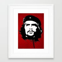 che Framed Art Prints featuring CHE by favewavearts