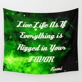 Everything Is Rigged - Rumi Wall Tapestry