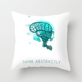 Think Abstractly Throw Pillow