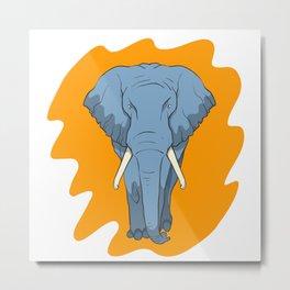 Elephant with tusks Metal Print