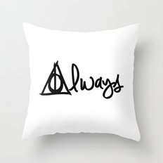 Always, Deathly Hallows, Harry Potter Throw Pillow