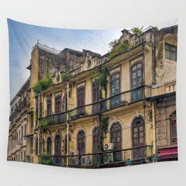 Colonial Houses in Macau Wall Tapestry