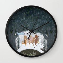 the winter bunny Wall Clock