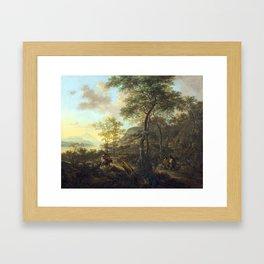 Jan Dirksz Both An Italianate Evening Landscape Framed Art Print