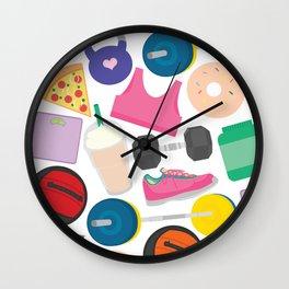 I'm Not Perfect, Fitness Pattern Wall Clock