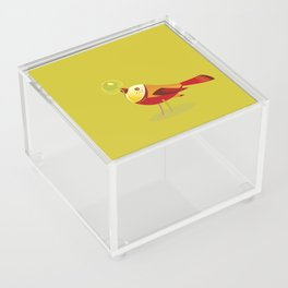 Bird With Apple Acrylic Box