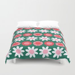 Peggy Green Duvet Cover