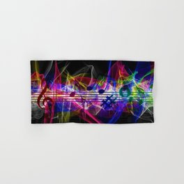 Colorful musical notes and scales artwork Hand & Bath Towel