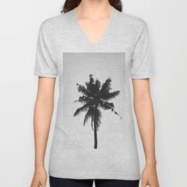 Palm, Tree, Nature, Tropical, Modern, Minimal, Interior, Wall art Unisex V-Neck