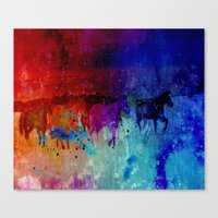 horses Canvas Prints featuring Horses  by Latidra Washington
