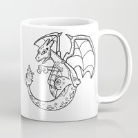charizard Mugs featuring Charizard de los Muertos | Pokémon & Day of the Dead Mashup by Aaron Bowersock