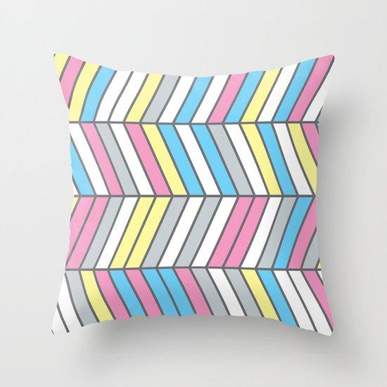 Four Colour Process Throw Pillow