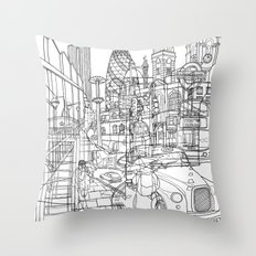 London! Throw Pillow