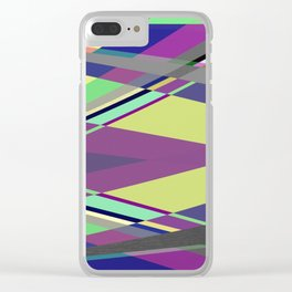 Crossed Paths - abstract, geometric, intersecting pastel shapes Clear iPhone Case