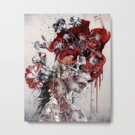 Queen of Skull II Metal Print