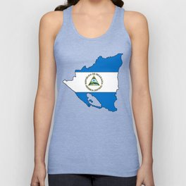 Nicaragua Map with Nicaraguan Flag Unisex Tank Top