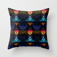 stargate Throw Pillows featuring Stargate Fractal Abstract by BohemianBound