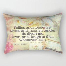 Jane Austen Elizabeth Bennet Quote Rectangular Pillow