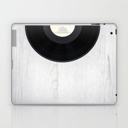 Black vintage vinyl record Laptop & iPad Skin