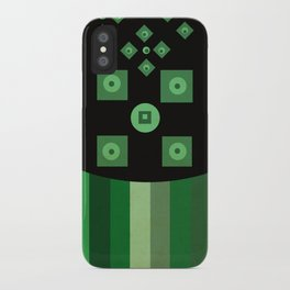green shapes iPhone Case