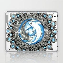 Yin and Yang Butterfly Koi Fish Mandala Laptop & iPad Skin