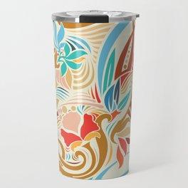 Abstract Florals Travel Mug