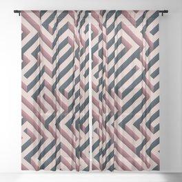 Pink Maze Sheer Curtain