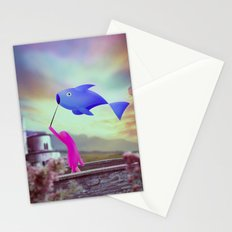 corsa col pesce Stationery Cards