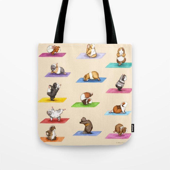 The Yoguineas - Yoga Guinea Pigs - Namast-hay! Tote Bag