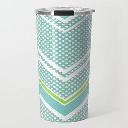 Ric-Rac-Dotty Blue And Lime Travel Mug
