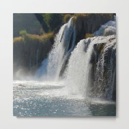 Waterfalls KRK, Croatia Metal Print
