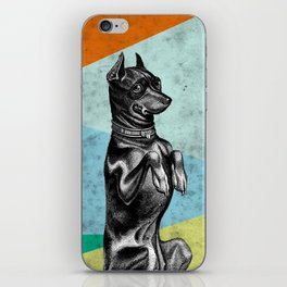 Sitting dog iPhone Skin
