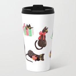 Holiday Cats Travel Mug