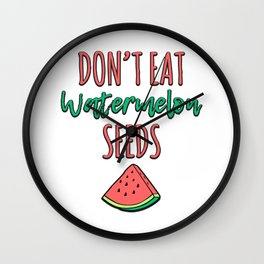 Pregnancy Gift Don't Eat Watermelon Seeds New Baby Announcement Wall Clock