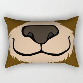 Bear head_B Rectangular Pillow